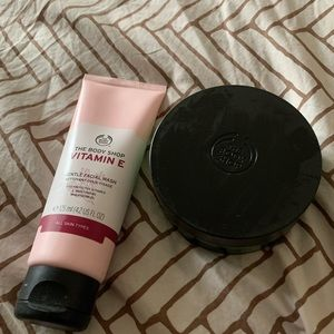 Body Shop cleanser & overnight mask